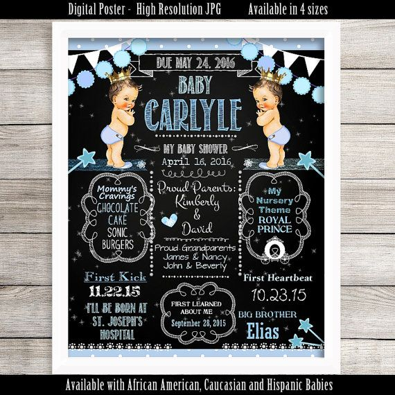 DIGITAL Personalized Baby Shower Poster 8 x 10 11 x by NecessiTees
