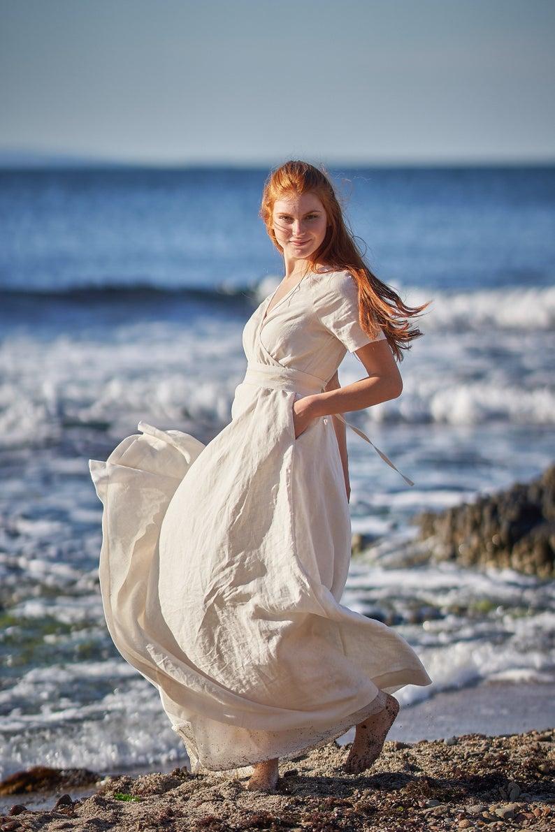 Linen Dress For Women Linen Maxi Dress White Linen Dress Etsy Summer Linen Dresses Linen Maxi Dress Linen Wedding Dress [ 1191 x 794 Pixel ]