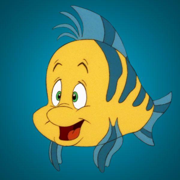 flounder the little mermaid disney personajes disney