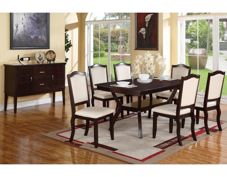 Espresso Dining Set Table6 Chairsdining Room Sets  Dining Room Adorable Espresso Dining Room Sets Design Inspiration