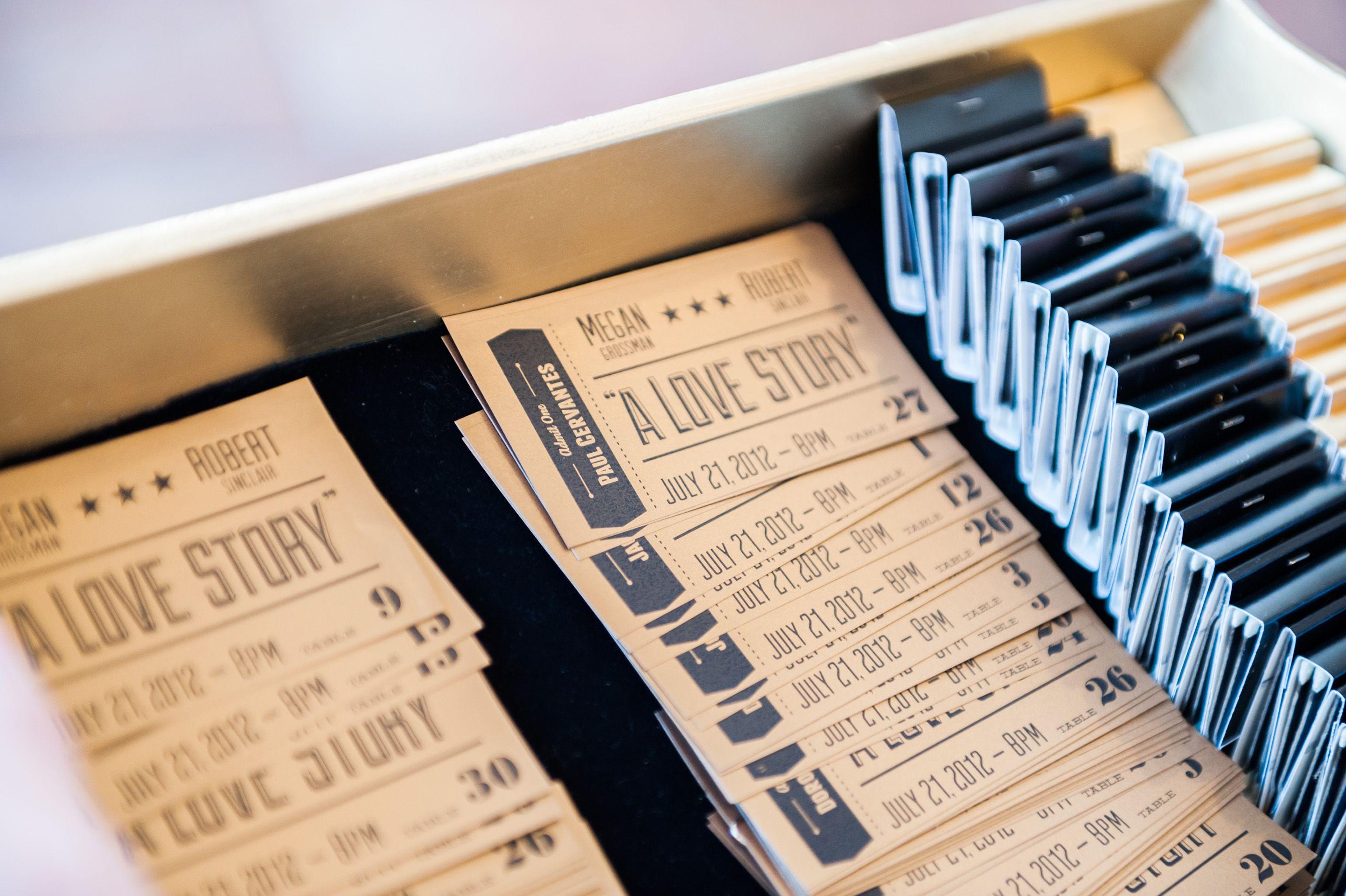 movie ticket stub wedding invitation%0A epic wedding in Los Angeles California weddings reception stationery