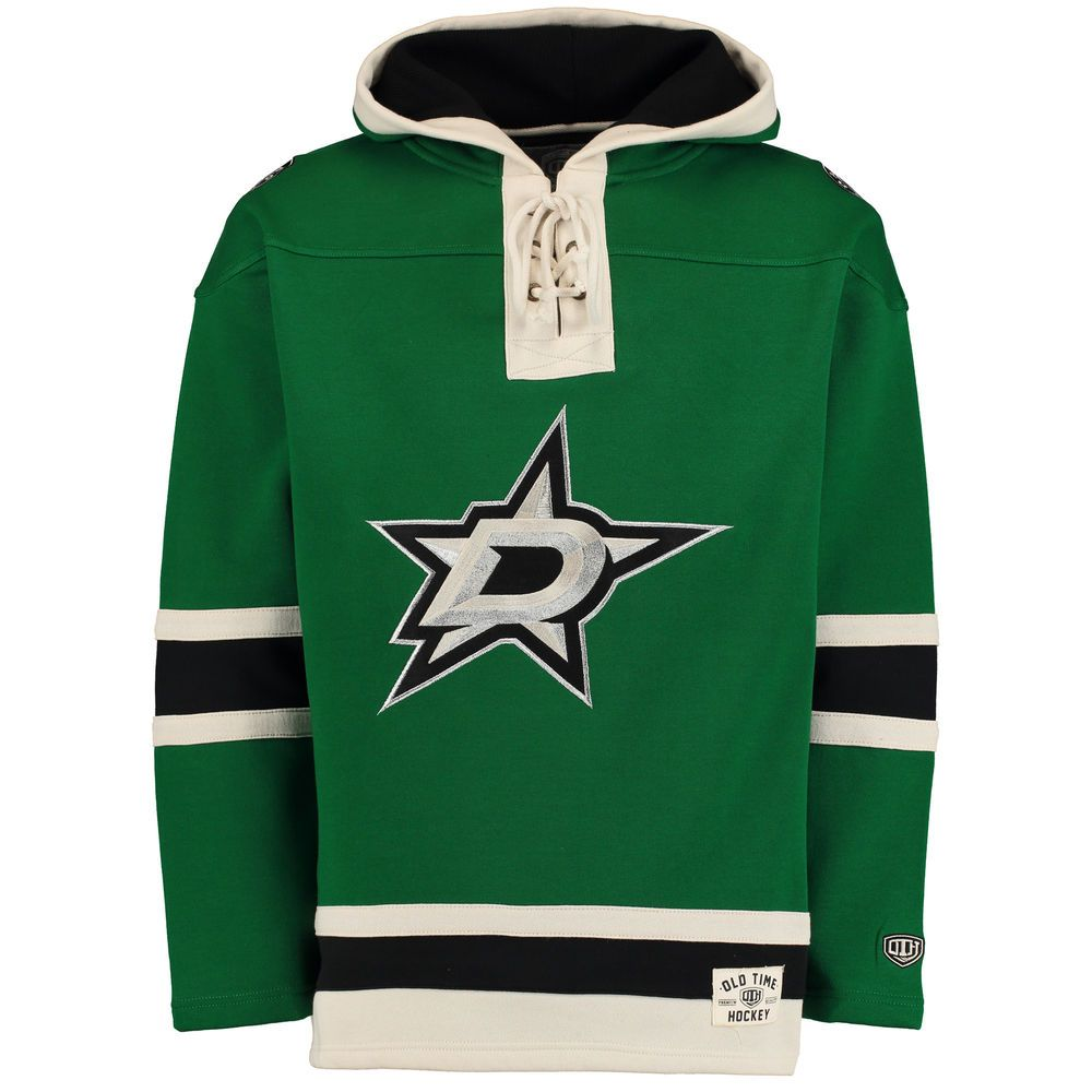 Dallas Stars Old Time Hockey Lacer Heavyweight Pullover Hoodie - Kelly Green 3d7e4c2fcdd