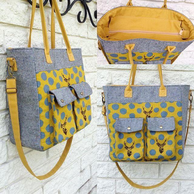 Collegiate Tote Bag pattern - Sew Modern Bags