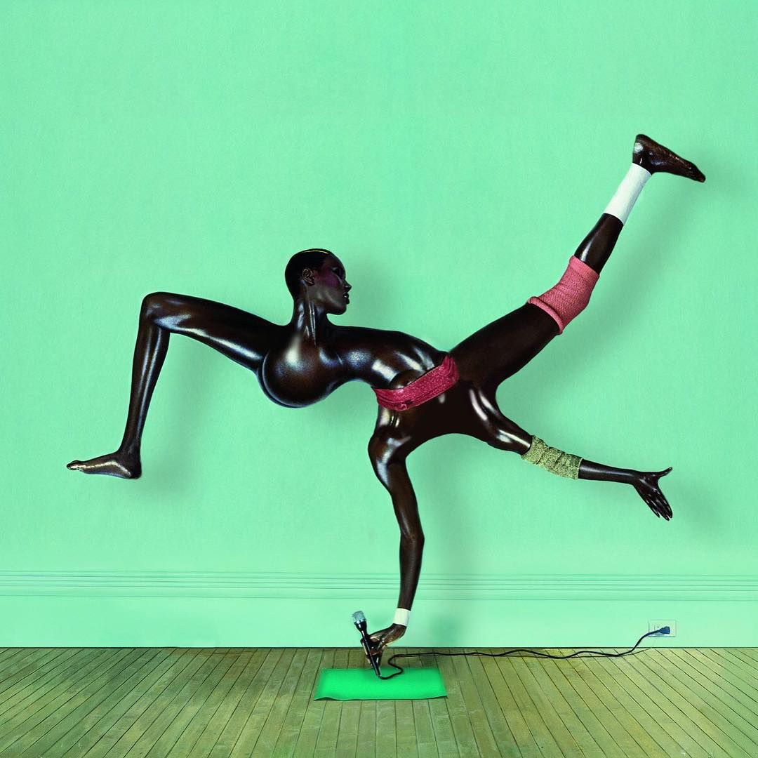 #GraceJones fun by reddit user PerfectAlias. A reworking of #JeanPaulGoude's classic photo.