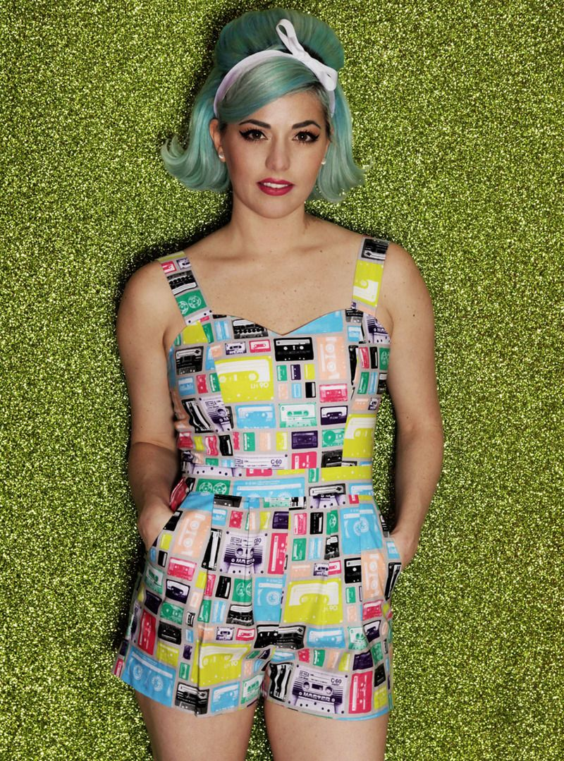 Kenley Collins - Pop Cassettes Romper.  obSESSED with this print!
