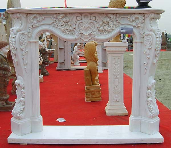 Marble Fireplace-French Style Fireplaces-Fireplace Mantles-STONE CARVING PRODUCTS-HEBEI STONEKING SCULPTURE FACTORY-Marble sculpture,Cast Iron Garden Decoration,China Stone Carving