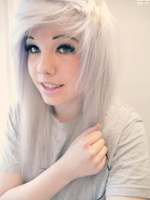 White Hair Emo Girl