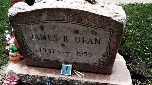 James Dean's Grave - Fairmont, Indiana It's always covered with