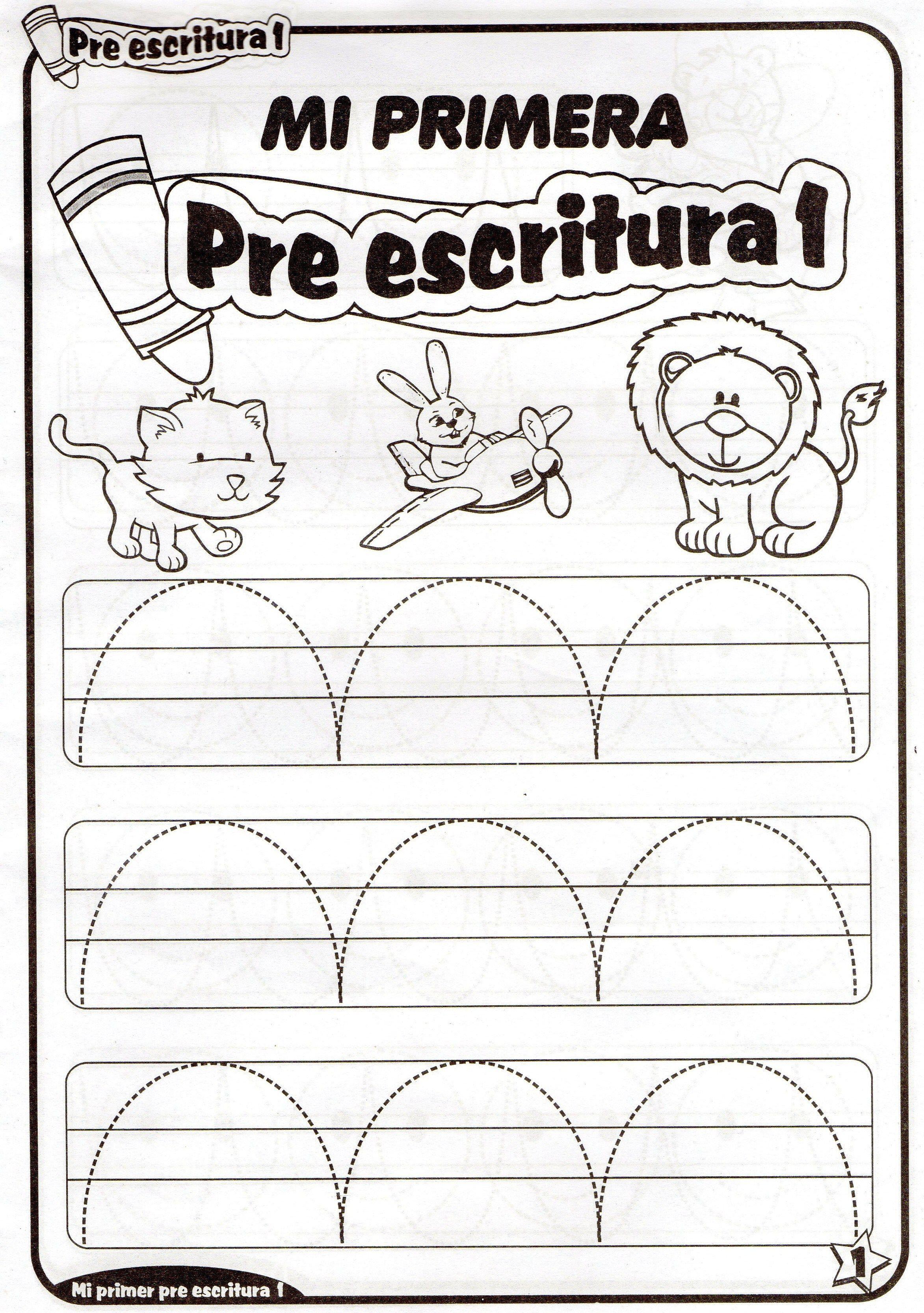 Fichas de preescritura imprimibles para niños de 4 años. Ejercicios ...
