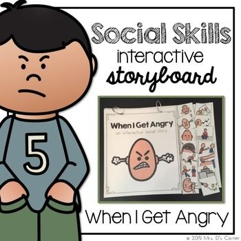 When I'M Angry - Social Story Interactive Storyboard { For Autism