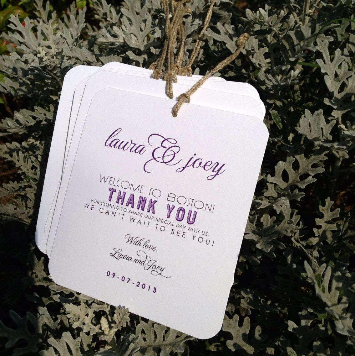Small Out-of-Town Guest Welcome Hang Tag - Wedding Welcome Bags ...