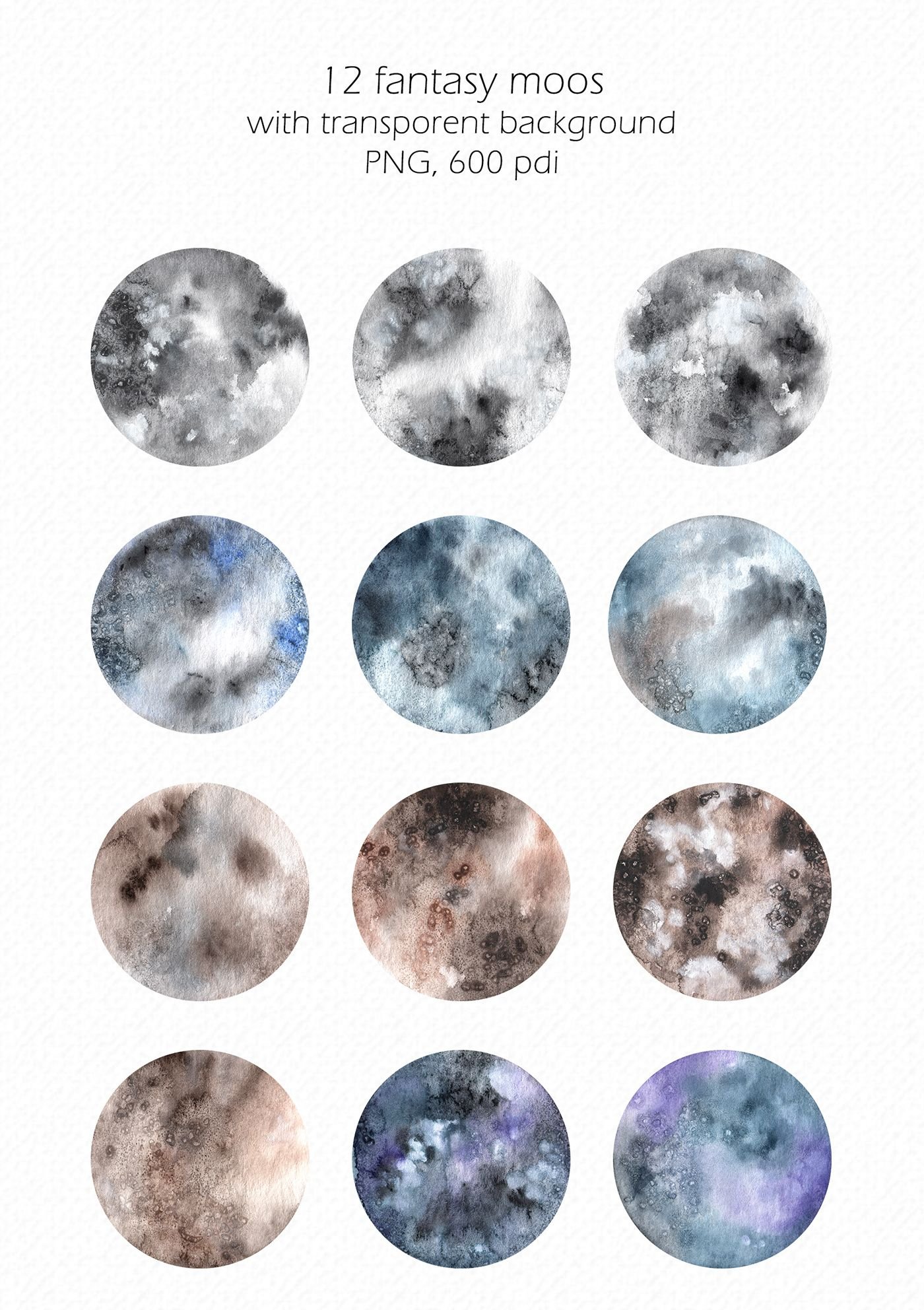 Watercolor Moons On Behance Watercolor Moon Magick Crafts Watercolor Projects