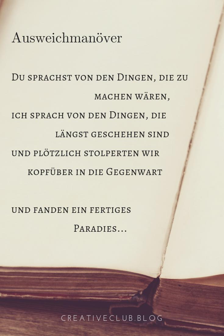 Gedicht Ausweichmanöver Gedichte Liebesbriefe Und Lyrik
