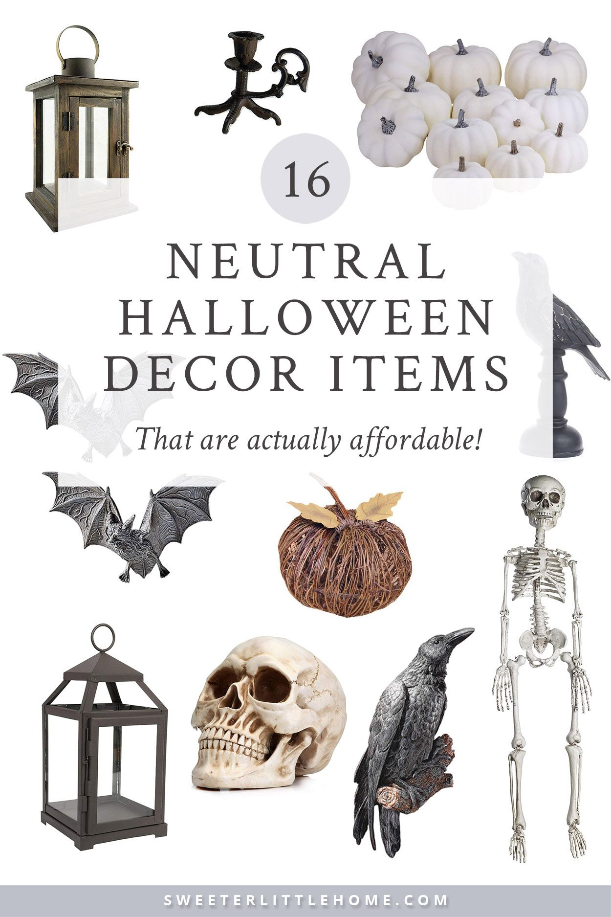16 neutral Halloween home decor items that are actually