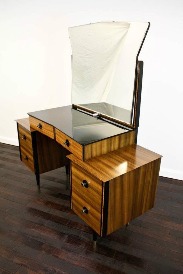 Atomic era dressing table vanity! Furniture makeover Pinterest