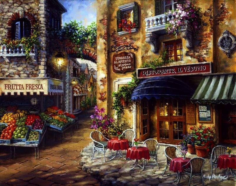 Pinturas Pared De Café Murales Pared Y Cuadros Pintura