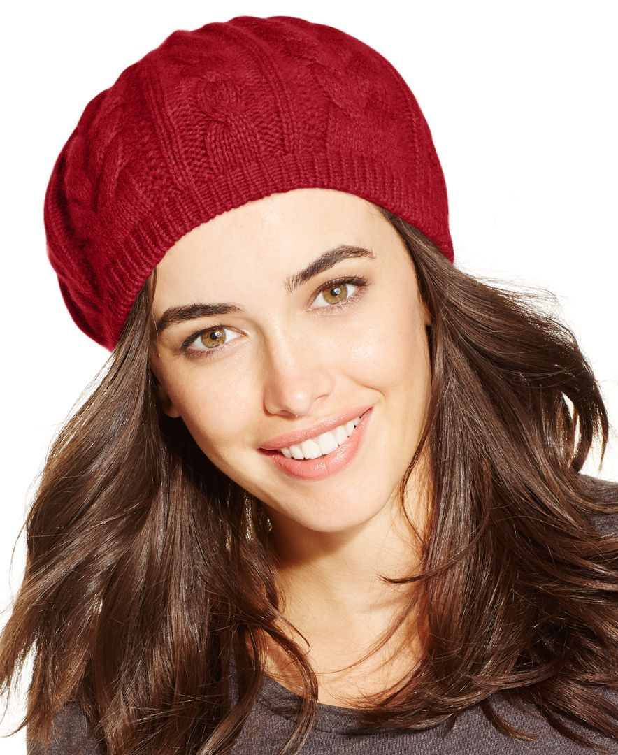 a6aada2724398 Charter Club Cashmere Cable Beret