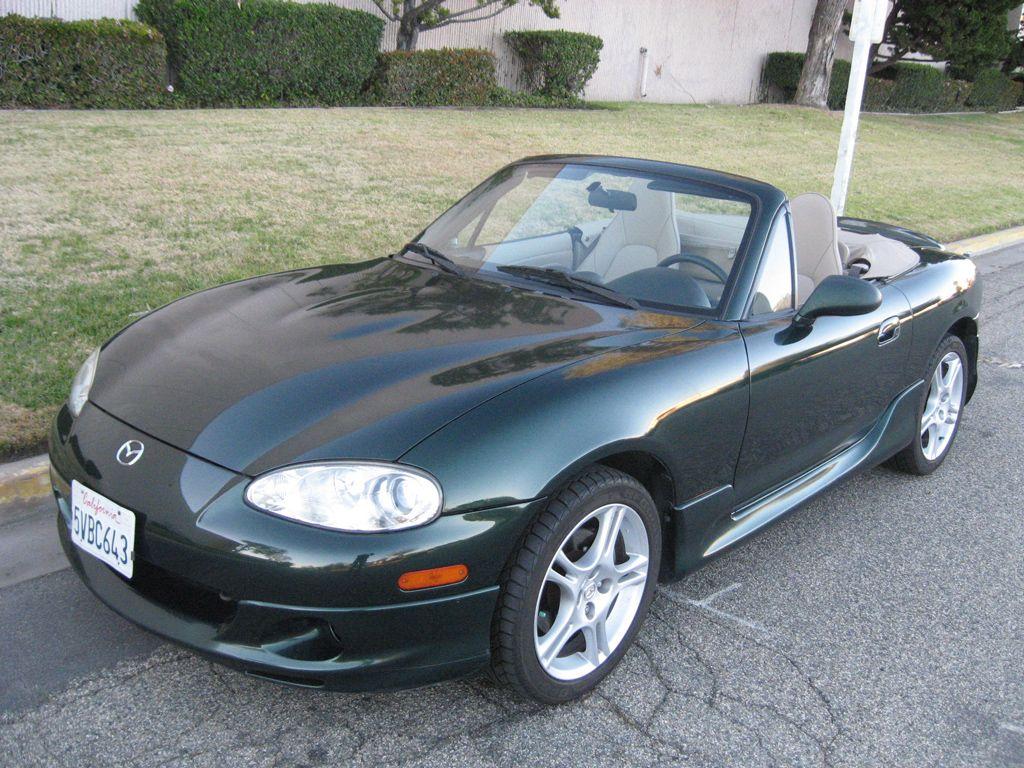 2004 Mazda Miata Mx5 Ls Green Mine Was A Special Edition And Had Tan Top Leather Interior 6 Sd Torson Rear End