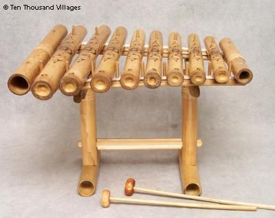 Etched Bamboo Xylophone Kids Crafts Xylophone