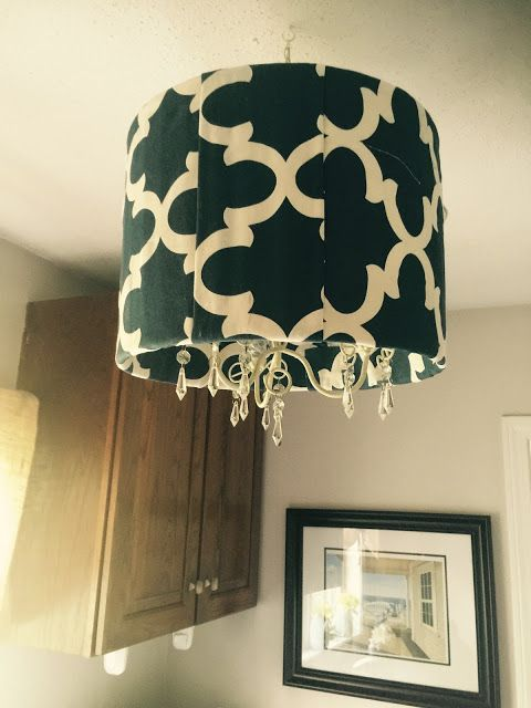 Ballard Inspired Hanging Lampshade Candelabra Via Ourcraftymom Diydecor Hanging Lamp Shade Small Lamp Shades Lampshade Chandelier