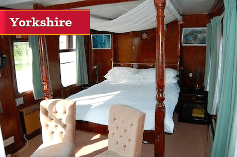 £69 for a One Night Yorkshire Converted Train Carriage Break in York with Dinner for Two