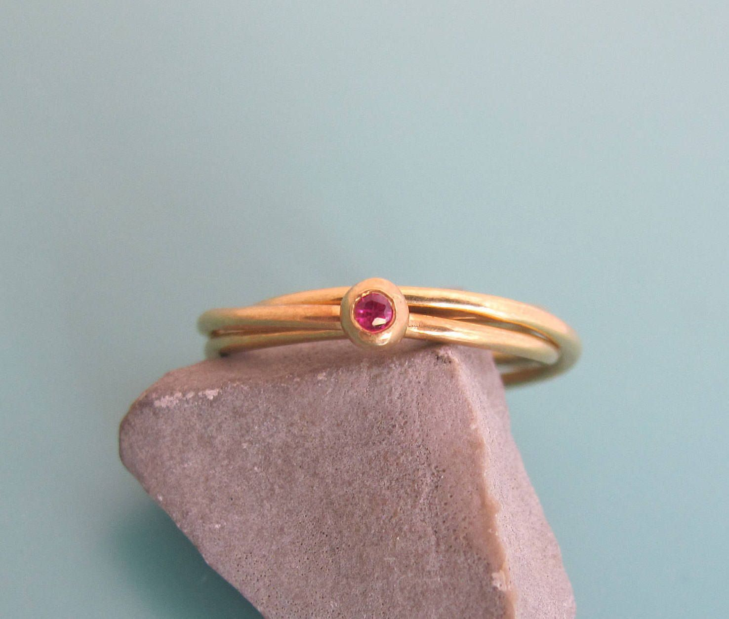 Trinity engagement ring ruby engagement ring trinity gold ring