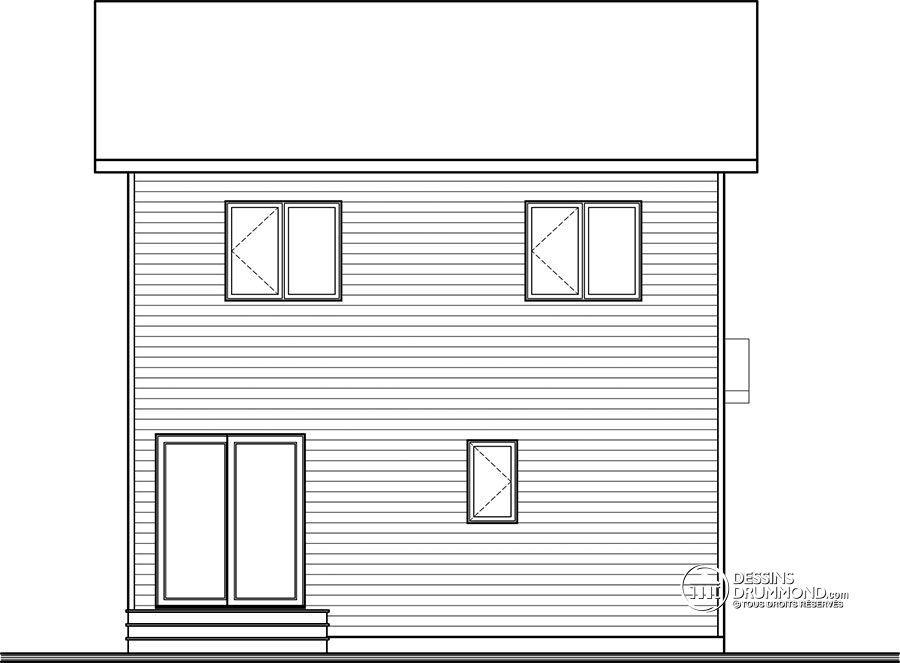 Détail du plan de Maison unifamiliale W3719 plan Pinterest - plan maison france confort