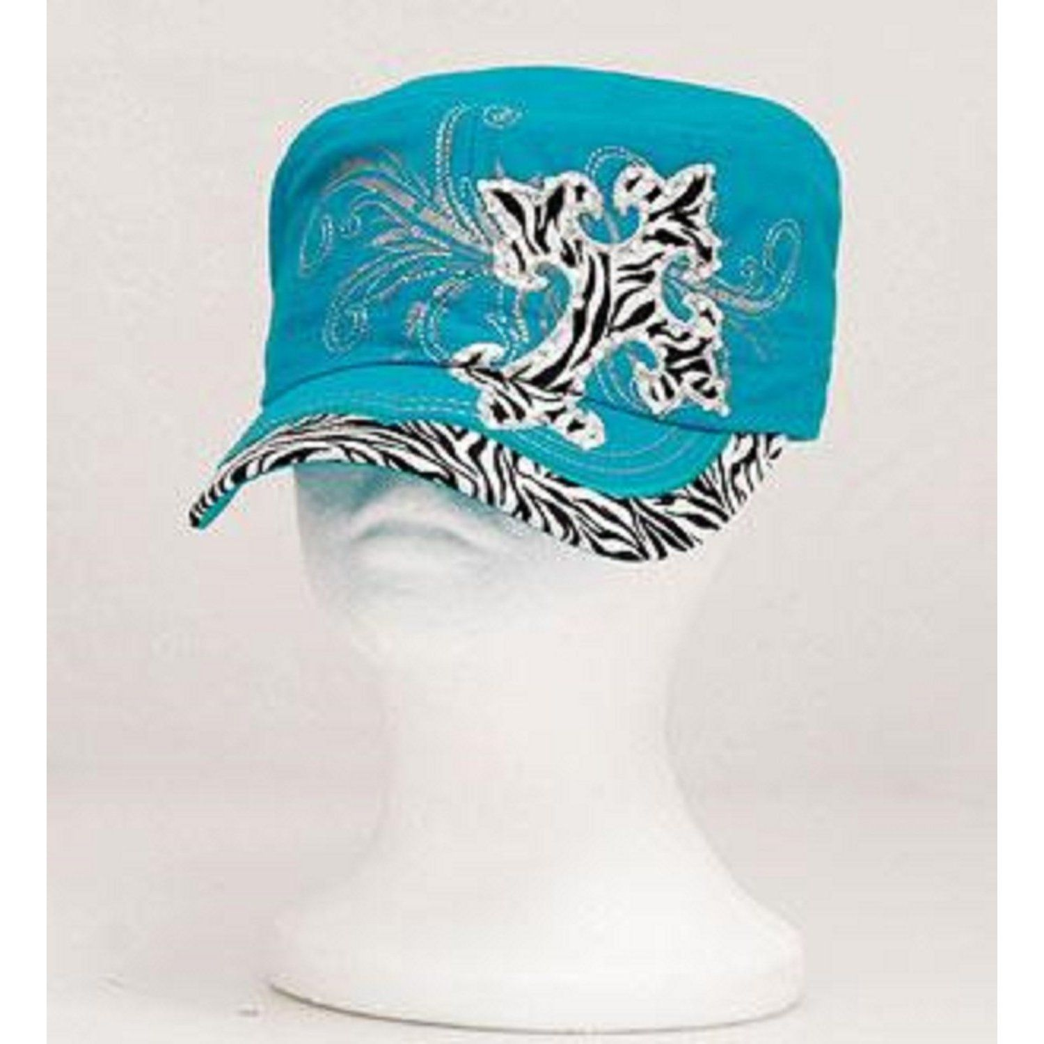 Leader Turquoise Cross Vintage Hat with Rhinestone   Trendy Hats ... 6b55fc84e13