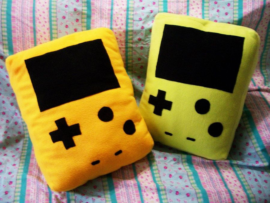 Game Boy Color Pillows  by ~Rosecloud