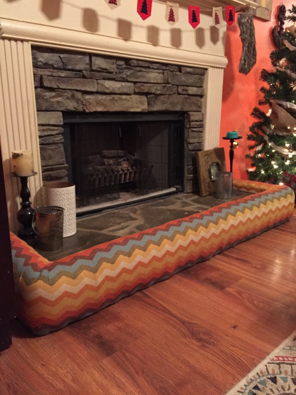 fireplace hearth baby bumper by marshillcreations on etsy toddler rh pinterest com fireplace cover baby proof baby proof fireplace cover