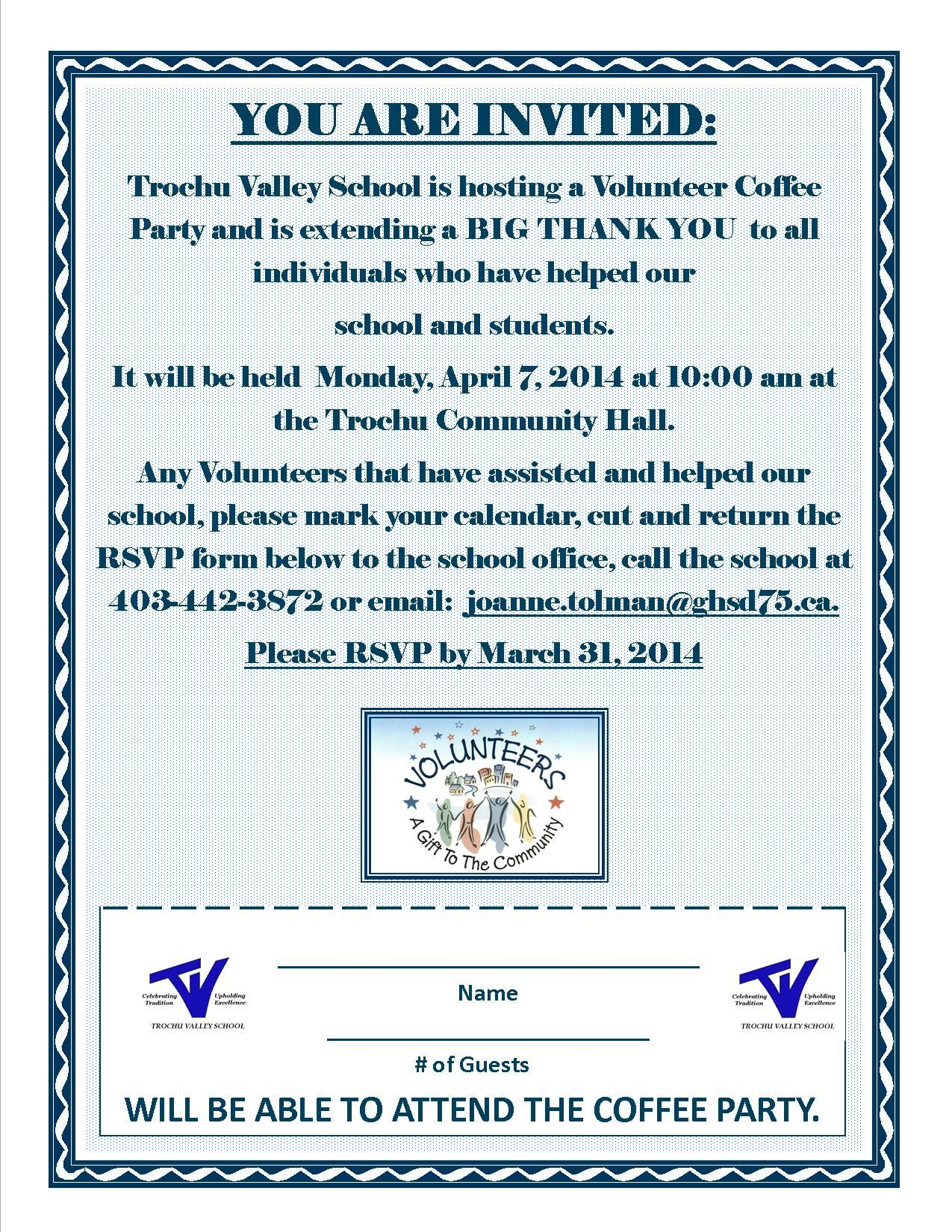 School Volunteer Appreciation Invitation Volunteer
