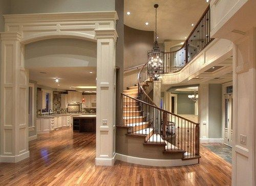 gorgeous open floor plan & spiral staircase! | Home Ideas ...