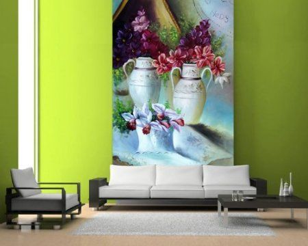 The Flowers Painting Wall Mural, 3 Feet 4 Inch By 5 Feet Part 61