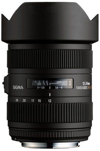 Sigma 12 24mm F 4 5 5 6 Af Ii Dg Hsm Lens For Canon Digital Slrs Sony Digital Digital Camera Nikon Digital Slr