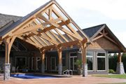 Glass roof on timber frame maybe kinda cool idea though