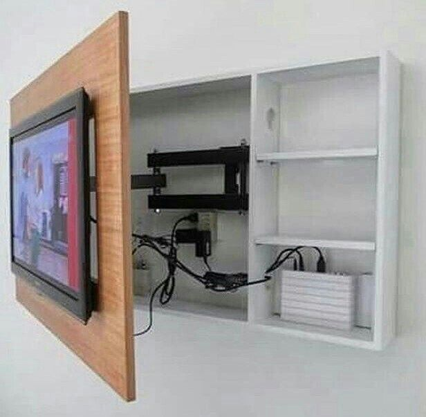 I Like This Idea For Behind The Tv When It S Mounted On The Wall