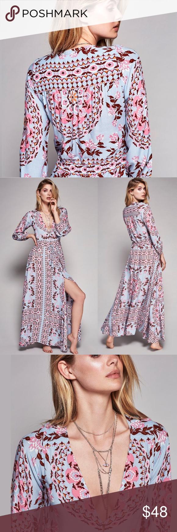 Pandora printed maxi dress gown aquarium mandala boutique