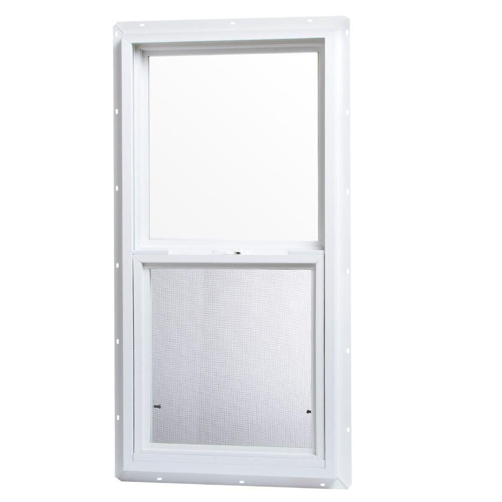 Tafco Windows 18 In X 36 In Single Hung Vinyl Window White Vsh1836op The Home Depot Single Hung Vinyl Windows Window Vinyl Single Hung Windows