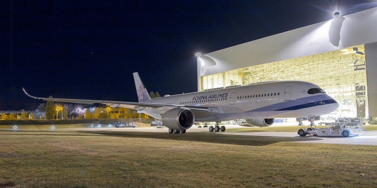 China Airlines' First A350 XWB Rolls Out (With images