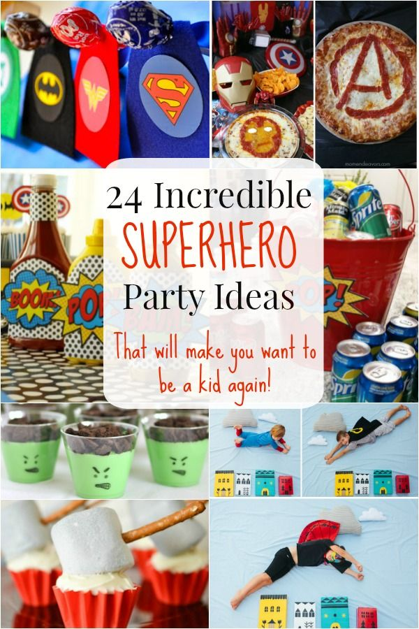 24 Incredible Superhero Party Ideas that Will Make You Wish You Were