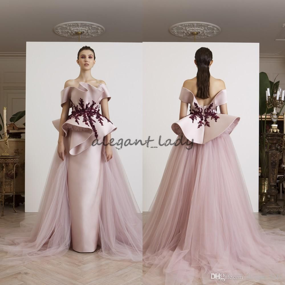 262039eef3 Azzi&Osta Fancy Evening Gown With Tulle Over-Skirt Off Shoulder ...