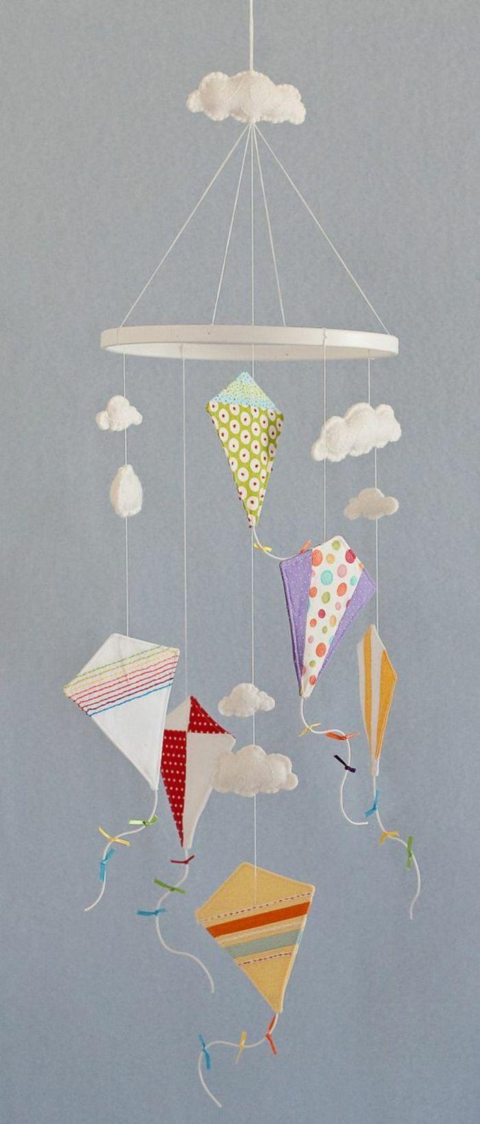 Drachen Basteln Als Mobile Fürs Kinderzimmer Bastelideen Mit Stoff Diy Baby