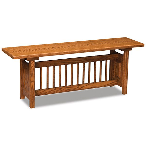 Attirant Amish Classic Mission Trestle Bench | Amish Furniture | Shipshewana  Furniture Co.