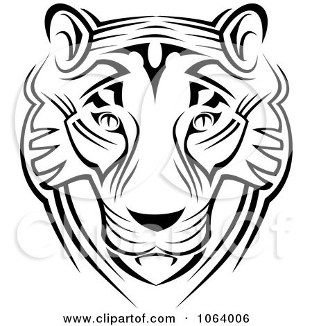 Clipart Tribal Tiger Face