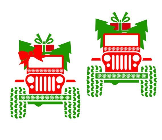 Christmas Jeep Silhouette.Pin On Products