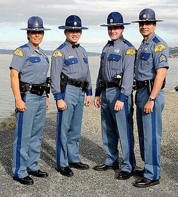 Washington State Police Police Uniforms Cop Uniform Men In Uniform