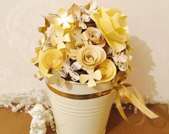 Paper Flower Arrangement Handmade Paper Flowers 50th Birthday