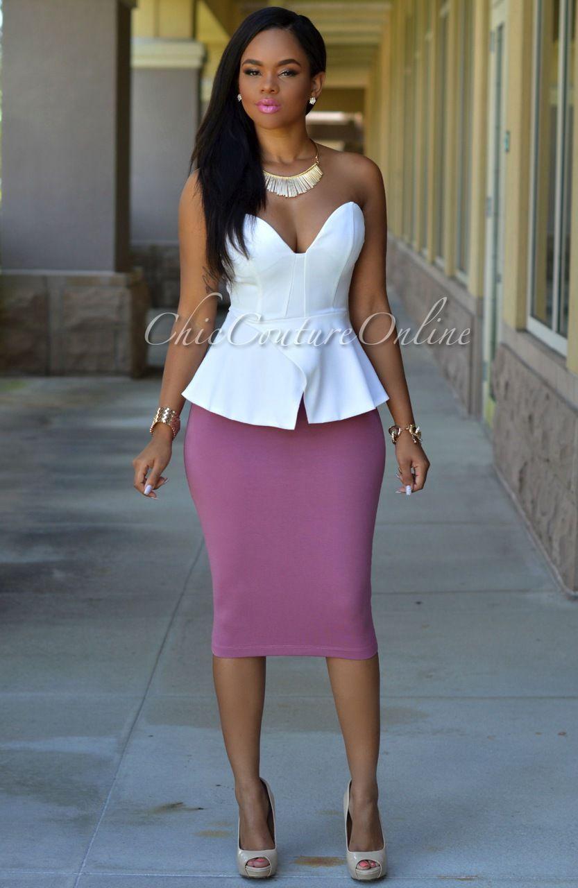 Holly Dust Pink Midi Skirt