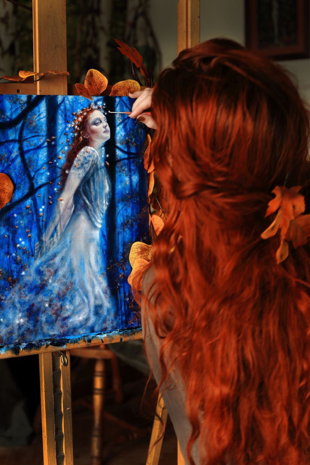 Aelinlaer Celtic Fairy Painting Art Magick In