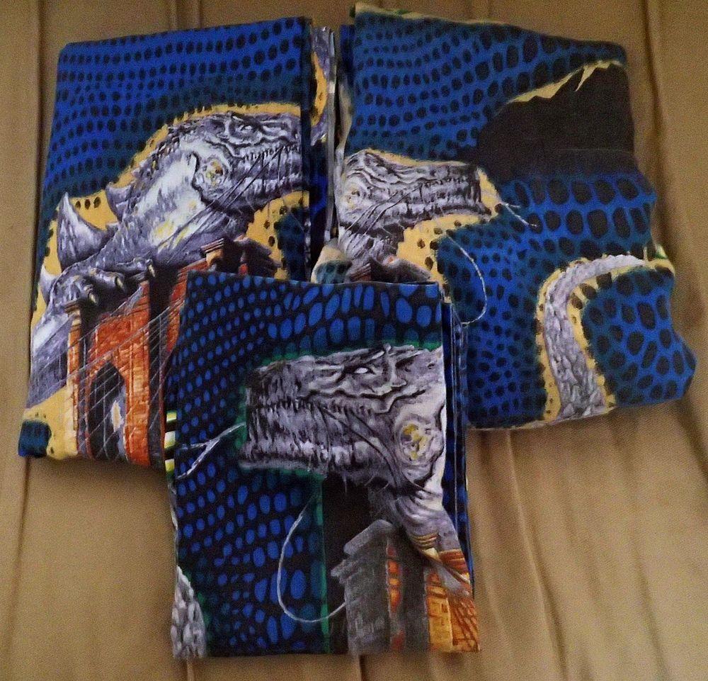 Godzilla Twin Bed Sheet Set Fitted Flat Pillowcase Rare Monster ...